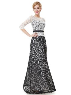 Lacy evening dress