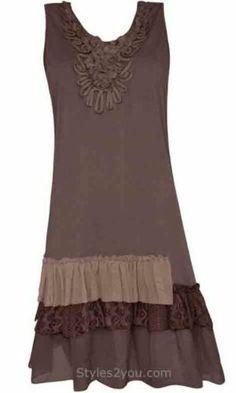 Pretty Angel Clothing Antique Shirt Dress in Coffee 62327CF | eBay