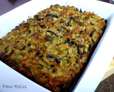 Mushroom and onion kugel for the upcoming Jewish holiday! :)