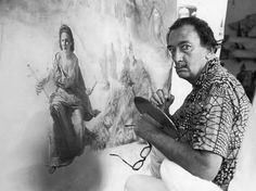Dali creating his Ecumenical Council (1960) Paying homage to Pope John XXIII who called for an ecumenical council . This decision was announced on this date January 29, 1959 at the Basilica of Saint Paul Outside the Walls. Ecumenical Council ~ 299.7 cm × 254 cm (118 in × 100 in) Master work painting by: Salvador Dalí Completed in 1960 #Дали By : John Barous 2015 © Docent, The Salvador Dali Museum, Saint Petersburg, FL. (1996-2011)