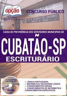 Apostila ESCRITURÁRIO - Concurso Caixa de Previdência dos Servidores Municipais de Cubatão / SP Gara