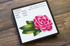 Copic vs Spectrum Noir with Tiddly Inks Camellia Digital Stamp | The Pink Envelope #digitalstamp #copic #copiccoloring #copicmarkers #coloredpencil #prismacolor #prismacolorpencils #stamping #papercrafting #papercrafter #handmade #handmadecards #cardmaker #cardmaking #papercrafts #nolinecoloring #cardmakersofinstagram #art #diy #crafts #authentic #copicsketch #markerart #colors #markers #alcoholmarkers #markersketch #spectrumnoir #coloring  #copicsketchmarkers