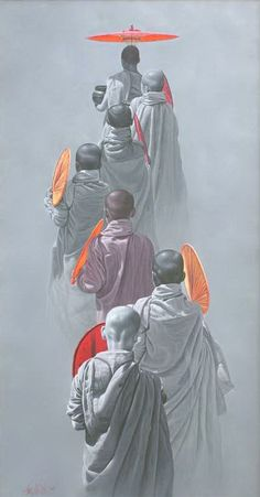 Aung Kyaw Htet Superbly composed. The gray hues make the oranges pop! The lighting of the subjects well executed. Fine work