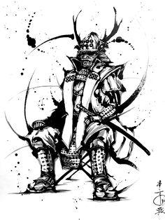 萌生堂 武人画師 こうじょう雅之 - 真田幸村 #墨絵 #武者絵 #picture of warriors