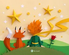 Beautiful Paper Crafts Beautiful Paper Crafts Beautiful Paper Art Inspired The Little Prince 3d Paper Art, Quilled Paper Art, Paper Pop, Origami Paper Art, 3d Paper Crafts, Paper Art Design, Origami Boxes, Diy Papier, Paper Illustration