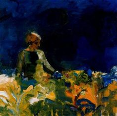 One of my favorite Bay Area artists ... Elmer Bischoff.  Seeing his paintings in real life, makes me want to climb inside and live in the colors of his world.