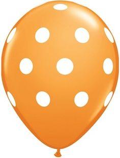 "Orange Polka Dot 11"" Balloons"