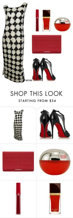 """""""WARM TONIGHT 🌟"""" by betty-sanga ❤ liked on Polyvore featuring Christian Louboutin, Fendi, Giorgio Armani and Tom Ford"""