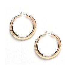 Small Gold Hoop Earrings (€16) ❤ liked on Polyvore featuring jewelry, earrings, gold earrings, 18k gold earrings, 18k yellow gold earrings, 18 karat gold jewelry and gold hoop earrings