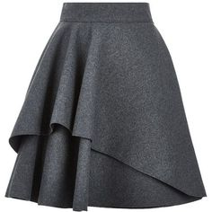 awesome Alexander McQueen Double Layer Flare Skirt