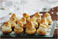 petits choux au confit de figues et chantilly de foie gras,