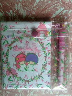 Little Twin Stars vintage Sanrio letter set. 1990's pen diary key note pad paper. Japanese cartoon characters.. $15.00, via Etsy.