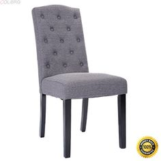 b57ecae6b070 COLIBROX--Set of 2 Fabric Wood Accent Dining Chair Tufted Modern Living  Room Furniture dining room chairs