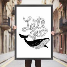 Placa decorativa baleia - StickDecor | Decoração Criativa