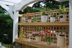 Privacy screen / Potting Bench