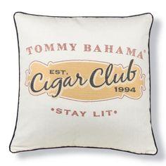 Tommy Bahama Cigar Club Sunbleach Designer Outdoor Pillow