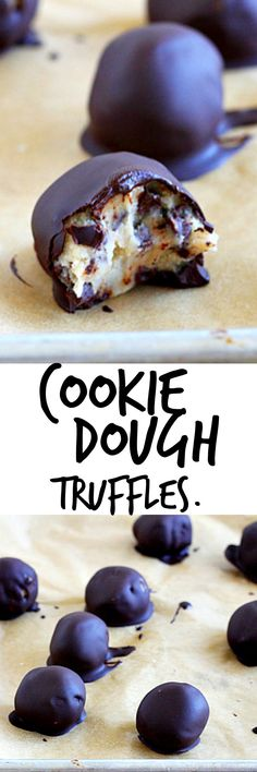 Chocolate chip cookie dough truffles. Enough said. Small batch, makes 8. Don't kill your diet LOL