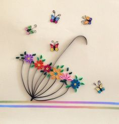 Best 11 Quilled Paper Art - Quilling Deco Home Trends Paper Quilling Cards, Paper Quilling Patterns, Origami And Quilling, Quilled Paper Art, Quilling Paper Craft, Paper Crafts, Quilling Ideas, Quilling Butterfly, Quilling Flowers