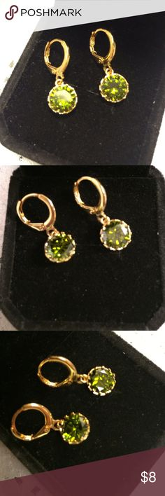 August Birthstone Peridot Earrings Brand-new yellow gold plated August birthstone peridot earrings natural gemstones brand-new never worn wrapped and shipped with care and tracking Ice Jewelry Earrings