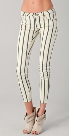 sass & bide has spank..force of nature #striped #skinny #jeans