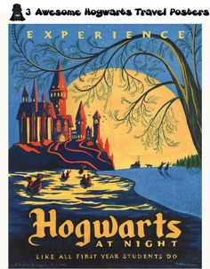 3 Awesome Hogwarts Travel Posters (Artist Caroline Hadilaksono shows us what a few travel posters might look like in the Harry Potter Universe. )
