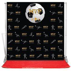 Basketball Mvp Birthday Backdrop Black 5x8 In 2019