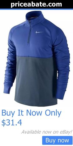 Men Athletics: Mens Nike Racer Half-Zip Long Sleeve Shirt Size Xl Blue, Gray 648588 Nwt BUY IT NOW ONLY: $31.4 #priceabateMenAthletics OR #priceabate