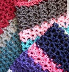 Learn How to Crochet V-Stitch with this helpful crochet tutorial!  | AllFreeCrochetAfghanPatterns.com