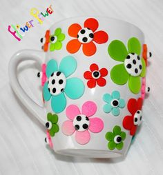 tuto simple en images: mug fleuri