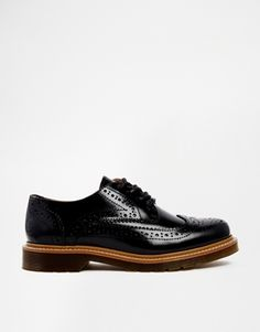 Bronx Black Leather Oxford Flat Shoes