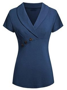 online shopping for Helloacc Womans V Neck Office Blouses Short Sleeves Summer Top Formal Suit Shirt from top store. See new offer for Helloacc Womans V Neck Office Blouses Short Sleeves Summer Top Formal Suit Shirt Casual Tops For Women, Blouses For Women, Blouse Styles, Blouse Designs, Office Blouse, Suit Shirts, Formal Suits, Pull, Short Sleeve Dresses