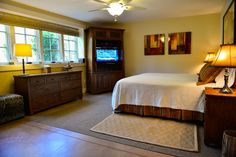Two bedrooms have queen beds and the other two have king beds.