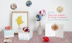 DIY 02. Fleurs en papier & Carte à pompon pour la Fête des mamans par Atelier des Nautes (www.atelierdesnautes.fr)