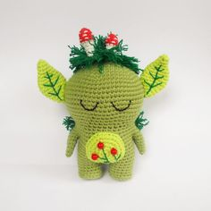 Crochet forest spirit amigurumi pattern