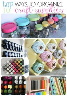 Organizing Craft Supplies On Pinterest Craft Supplies Craft Rooms