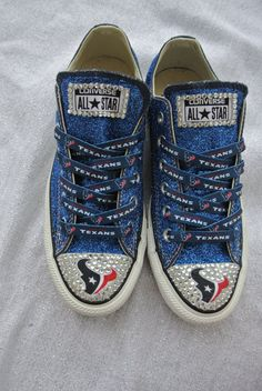 Houston Texans Customized Converse by JCorreaCreations on Etsy, $130.00