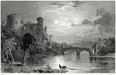 oldbookillustrations:  Barnard castle, county of Durham.  Thomas Allom, from Westmorland, Cumberland, Durham, and Northumberland, illustrated, by Thomas Rose, London, 1832.  (Source: archive.org)