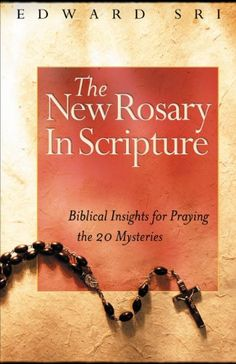The New Rosary in Scripture: Biblical Insights for Praying the 20 Mysteries by Edward Sri http://www.amazon.com/dp/156955384X/ref=cm_sw_r_pi_dp_pYnWtb1T7GBCMZMM