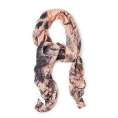 You'll wow them in the  unexpected beauty of the Salem scarf. Loop this charcoal, peach stunner and give glimpses of Salem's hyper realistic skull designs!   Find it on Splendor Designs