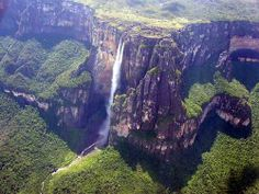 Angel Falls is the world's tallest waterfall, nearly 1000m (979m) high with a largest single drop of 810m. Named after the pilot who discovered them in 1937 – Jimmy Angel – though Venezuelan explorer Ernesto de Santa Cruz got here in 1910 so Angel Falls has really been discovered at least twice.