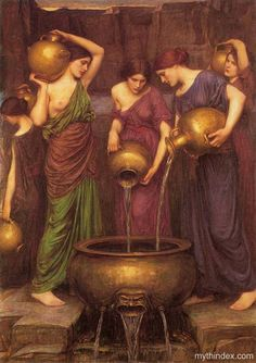 The Danaides, by John William Waterhouse (1849-1917), English Pre-Raphaelite painter