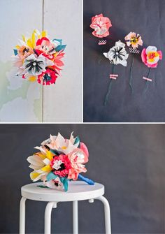 DIY Kids Crafts : DIY Paper Flower Bouquet
