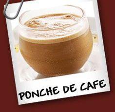 Ponche de Cafe Ingredientes: • 4 cucharadas de leche condensada • 200 ml de cafe recien hecho • un chorrito de ron • una yema de huevo