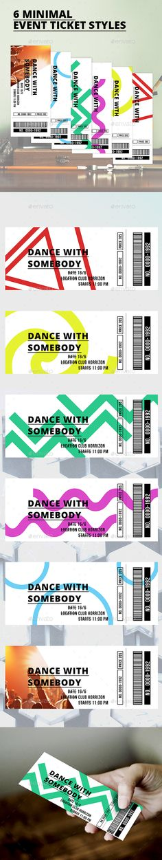minimal event ticket styles ticket design event tickets gout more