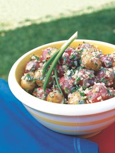 The perfect healthy potato salad recipe for your July 4 cookout: http://recipes.womenshealthmag.com/Recipe/patriotic-potato-salad.aspx It's mayo-free!