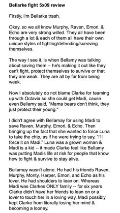 #the100 #bellarke #clarkgriffin #bellamyblake #Madi #elizataylor #bobmorley #lola #episode5x09 #5x09 #seasonfive #slap #protect #theflame
