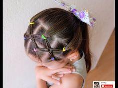 Peinado para niñas con ligas cruzadas peinados faciles y rapidos de hacer para  niñas LPH - YouTube