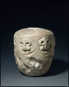 Masse d'armes vouée par Mesilim, roi de Kish Dynasties archaïques III, vers 2550 avant J.-C. Provenance: Tello, ancienne Girsu Calcaire Conservation: Paris, MdL.