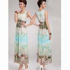 Gorgeous Tall Elegant Scoop Neck Designed Sleeveless Long Maxi Dress For Hot Women