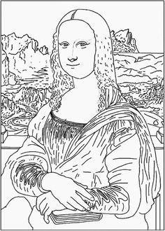 Free Art History Coloring Pages Mona lisa Printing and Artist